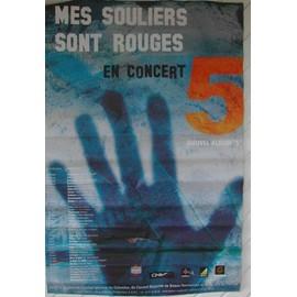 Mes Souliers Sont Rouges - AFFICHE MUSIQUE / CONCERT / POSTER