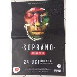 Soprano - Cosmo Tour - AFFICHE MUSIQUE / CONCERT / POSTER