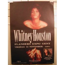 Houston Whitney - AFFICHE MUSIQUE / CONCERT / POSTER
