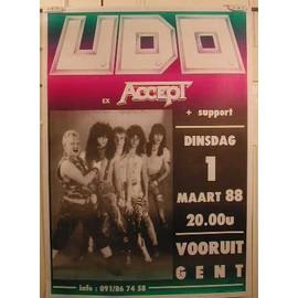 Udo  - Accept - AFFICHE MUSIQUE / CONCERT / POSTER