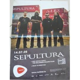 SEPULTURA - 2009 - AFFICHE MUSIQUE / CONCERT / POSTER