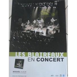 Les Blaireaux - AFFICHE MUSIQUE / CONCERT / POSTER