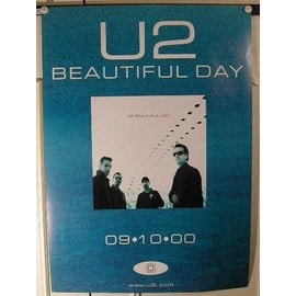 U2 - beautiful day - AFFICHE MUSIQUE / CONCERT / POSTER