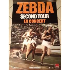 ZEBDA - Second Tour - AFFICHE MUSIQUE / CONCERT / POSTER