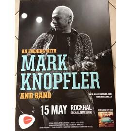 Mark Knopfler - Concert 2013 - AFFICHE MUSIQUE / CONCERT / POSTER
