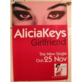 Keys Alicia - Girlfriend - AFFICHE MUSIQUE / CONCERT / POSTER