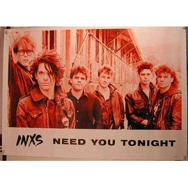 INXS - Need You Tonight - AFFICHE MUSIQUE / CONCERT / POSTER