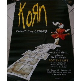 KORN - Follow The Leader - AFFICHE MUSIQUE / CONCERT / POSTER