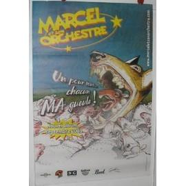Marcel et son orchestre - 2003 - AFFICHE MUSIQUE / CONCERT / POSTER