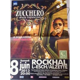 ZUCCHERO - La Sesion Cubana World Tour 2013 - AFFICHE MUSIQUE / CONCERT / POSTER