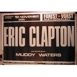Clapton Eric - AFFICHE MUSIQUE / CONCERT / POSTER