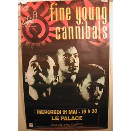 Fine Young Cannibals - AFFICHE MUSIQUE / CONCERT / POSTER