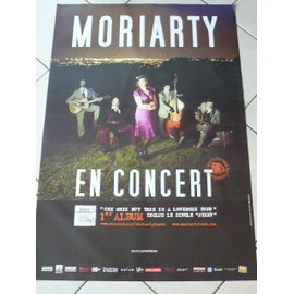 MORIARTY - AFFICHE MUSIQUE / CONCERT / POSTER