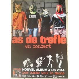 As De Trefle - AFFICHE MUSIQUE / CONCERT / POSTER