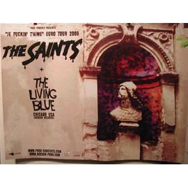 The Saints - The Living Blue - AFFICHE MUSIQUE / CONCERT / POSTER