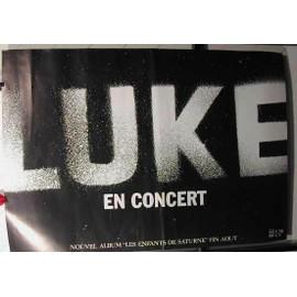 LUKE - AFFICHE MUSIQUE / CONCERT / POSTER