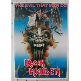 Iron Maiden - The Evil That Men Do - AFFICHE MUSIQUE / CONCERT / POSTER