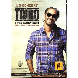Tairo - & Family Band - AFFICHE MUSIQUE / CONCERT / POSTER