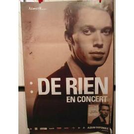 DE RIEN - AFFICHE MUSIQUE / CONCERT / POSTER