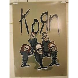 Korn  - Sadida - AFFICHE MUSIQUE / CONCERT / POSTER