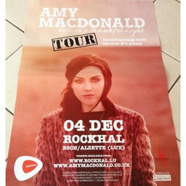 Amy Macdonald - Life In A Beautiful Light - AFFICHE MUSIQUE / CONCERT / POSTER