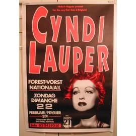 Lauper Cyndi - AFFICHE MUSIQUE / CONCERT / POSTER