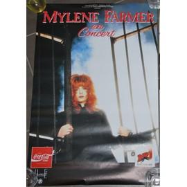 Mylène FARMER - 1989 - AFFICHE MUSIQUE / CONCERT / POSTER