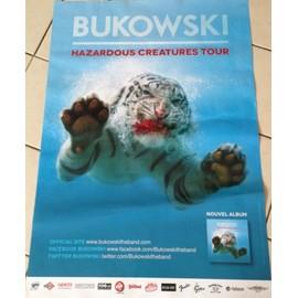 BUKOWSKI - Hazardous Creatures Tour - AFFICHE MUSIQUE / CONCERT / POSTER