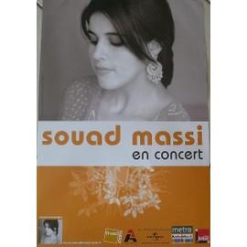 Souad Massi - AFFICHE MUSIQUE / CONCERT / POSTER