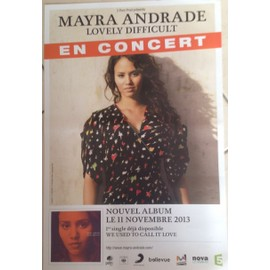 Mayra ANDRADE - Lovely Difficult - AFFICHE MUSIQUE / CONCERT / POSTER