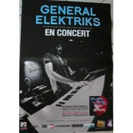GENERAL ELEKTRIKS - AFFICHE MUSIQUE / CONCERT / POSTER