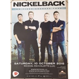 Nickelback - No Fixed Address Tour - AFFICHE MUSIQUE / CONCERT / POSTER