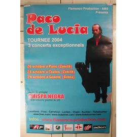Paco De Lucia - AFFICHE MUSIQUE / CONCERT / POSTER