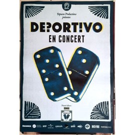 Deportivo - Domino - AFFICHE MUSIQUE / CONCERT / POSTER