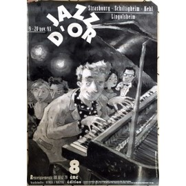 Jazz d'Or - AFFICHE MUSIQUE / CONCERT / POSTER