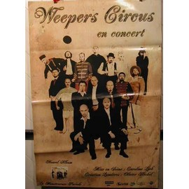 Weepers Circus - AFFICHE MUSIQUE / CONCERT / POSTER