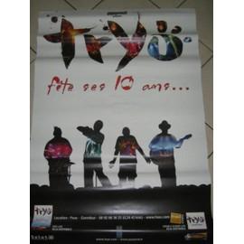 TRYO - Fêtes ses 10 ans - AFFICHE MUSIQUE / CONCERT / POSTER