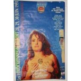 Eurockeene 91 - Pixies Mano negra - AFFICHE MUSIQUE / CONCERT / POSTER
