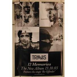 Travis - 12 Memories - AFFICHE MUSIQUE / CONCERT / POSTER