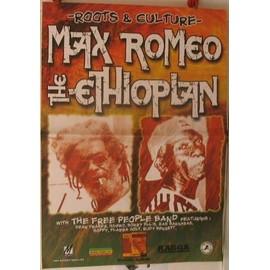 Romeo Max -  - + the ethiopian - AFFICHE MUSIQUE / CONCERT / POSTER
