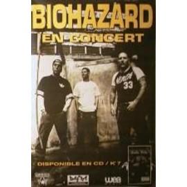Biohazard - AFFICHE MUSIQUE / CONCERT / POSTER