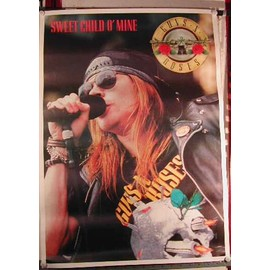 Guns n' roses - Sweet Child o'Mine - AFFICHE MUSIQUE / CONCERT / POSTER