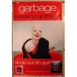 Garbage - Breaking up the girl - AFFICHE MUSIQUE / CONCERT / POSTER