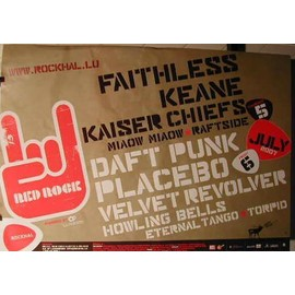 Placebo - Daft Punk - Faitless - Keane - AFFICHE MUSIQUE / CONCERT / POSTER