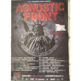 Agnostic Front - The American Dream Died - AFFICHE MUSIQUE / CONCERT / POSTER