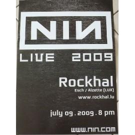 Nine Inch Nails - 2009 - AFFICHE MUSIQUE / CONCERT / POSTER