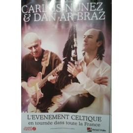 Carlos Nuñez & Dan Arbraz - AFFICHE MUSIQUE / CONCERT / POSTER