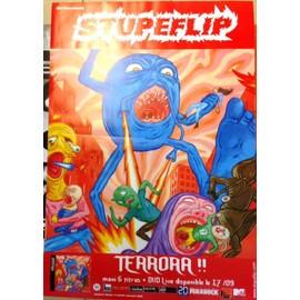 Stupeflip - Terrora!! - AFFICHE MUSIQUE / CONCERT / POSTER