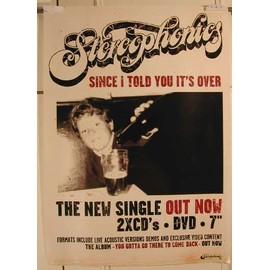 Stereophonics - Since - AFFICHE MUSIQUE / CONCERT / POSTER