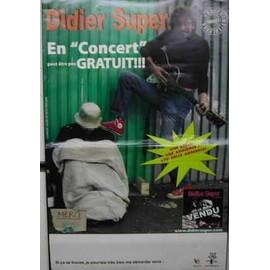 Didier Super - AFFICHE MUSIQUE / CONCERT / POSTER